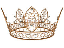 Gold royal crown. Isolated on a white background Stock Photo