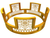 Gold royal crown. Isolated on a white background Royalty Free Stock Photos