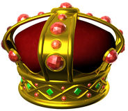 Gold royal crown. 3D illustration Stock Photo