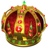 Gold royal crown. 3D illustration Royalty Free Stock Photography