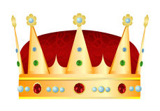 Gold royal crown. Vector illustration Royalty Free Stock Photo