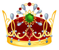 Gold royal crown. Vector illustration Royalty Free Stock Photography