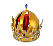 Gold Royal Crown with Jewels Stock Photos