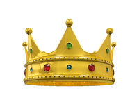 Gold Royal Crown with Jewels Royalty Free Stock Photos