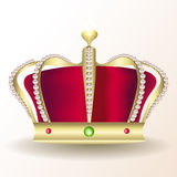 Gold royal crown Stock Photos