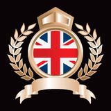 Gold royal display british flag Stock Photo
