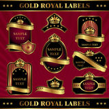 Gold royal labels. Set vector image gold royal labels Stock Photo