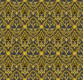 Gold royal pattern. Seamless vector background stock illustration
