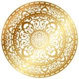 Gold rug / napkin. Vector illustration of gold oriental rug / napkin royalty free illustration