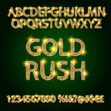 Gold rush.  alphabets Royalty Free Stock Image