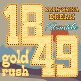 Gold rush design Stock Image