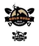 Gold rush, emblem, logo. Gold rush, emblem logo two versions Vector illustration Royalty Free Stock Images