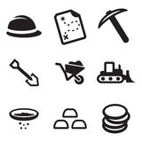 Gold Rush Icons Royalty Free Stock Photo