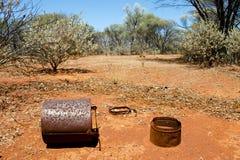 Gold Rush Mining Settlement. Abandoned Gold Rush Mining Settlement Royalty Free Stock Photo