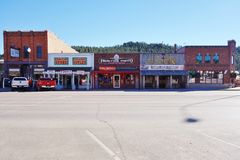 The Gold Rush town of Custer in the Black Hills of South Dakota Royalty Free Stock Photos