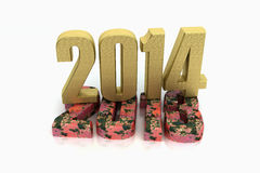 Gold 2014 rusty 2013 Royalty Free Stock Images