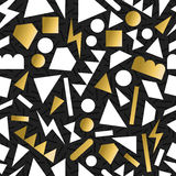 Gold 80s 90s retro seamless pattern background Stock Photography
