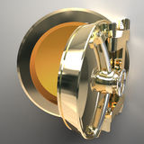 Gold Safe. 3d render Stock Photography