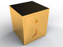 Gold safe #3. Gold safe on white background #3 Stock Photography