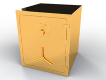 Gold safe #2. Gold safe on white background #2 Stock Images