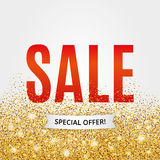 Gold sale background in frame Royalty Free Stock Photo
