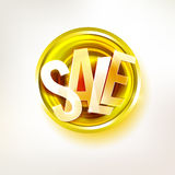 Gold sale message label Stock Photography