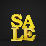 Gold sale Stock Photography
