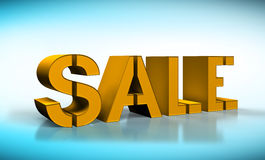 Gold sale text Stock Photography