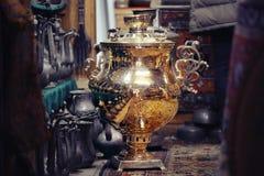 Gold samovar Royalty Free Stock Image