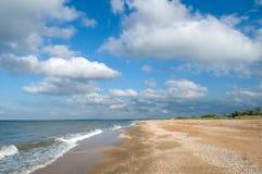 Gold sand beach Royalty Free Stock Photo