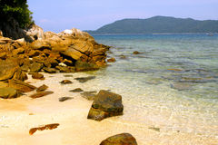 Gold sand beach in Malaysia Stock Images