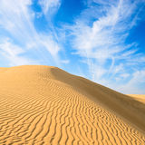 Gold dunes in great indian desert Stock Photo