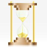 Gold Sand Glass Clock Royalty Free Stock Photo