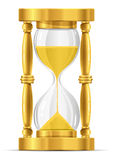 Gold sand glass clock Stock Photos