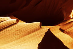 Gold sand stone in antylope canyon stock photography