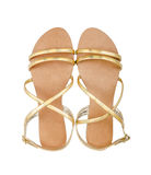 Gold sandals Royalty Free Stock Photo