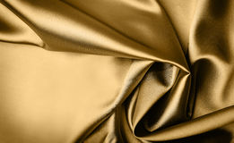 Gold satin background Royalty Free Stock Image
