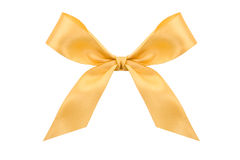 Gold satin bow Stock Image