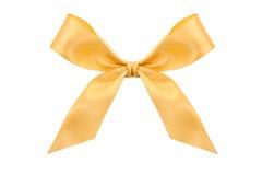 Gold satin bow stock image