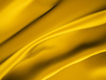 Gold satin. Cloth rendered background Stock Photography