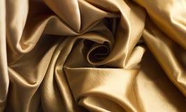 Gold satin fabric Royalty Free Stock Image