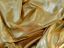 Gold satin material Royalty Free Stock Photography