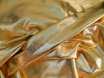 Gold satin material Royalty Free Stock Image