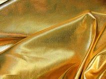 Gold satin material Royalty Free Stock Photos