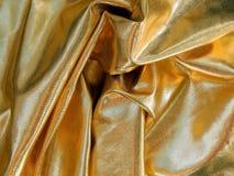 Gold satin material Stock Photos