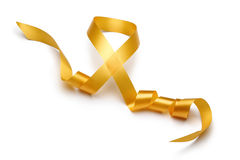 Gold satin ribbon stock images