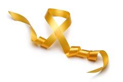 Free Gold Satin Ribbon Stock Images - 25255014