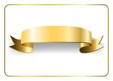 Gold satin ribbon on white 9 Royalty Free Stock Photo