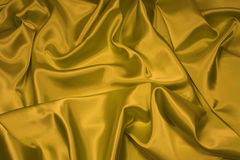 Gold Satin/Silk Fabric 1 Stock Photo