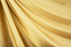Gold satin textile Royalty Free Stock Images